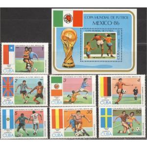 Kuuba - jalgpalli MM, Mexico 1986 (I), **