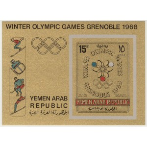 Yemen Arab Republic - Grenoble 1968 olümp. (I), **