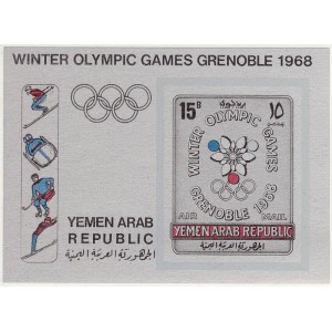 Yemen Arab Republic - Grenoble 1968 olümp. (II), **