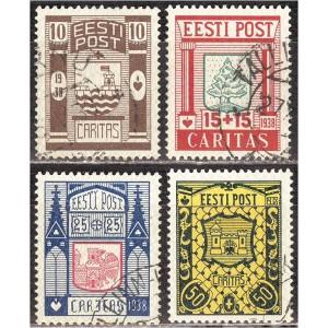 """Eesti 1938, """"Ühisabi """" Caritas, templiga"""