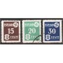 Eesti 1941, haakrist ja Eesti vapp, templiga