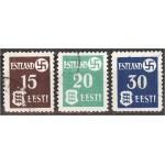 Eesti 1941, haakrist ja Eesti vapp (III), templiga