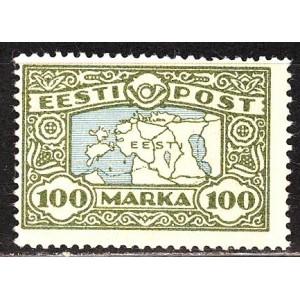 Eesti 1923, maakaart 100 marka (koemustriga), **