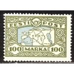 Eesti 1923, maakaart 100 marka (ligatne p.), **