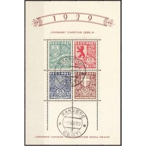 """Eesti 1939, """"Ühisabi"""" Caritas (ühej), templiga plokk"""