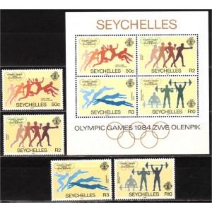 Seychelles - Los Angeles 1984 olümpia, **