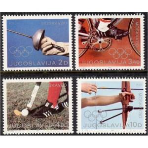Jugoslaavia - Moskva 1980 olümpia, **