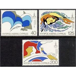 Küpros - Moskva 1980 olümpia, **