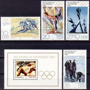 DDR - Lake Placid 1980 olümpia, **
