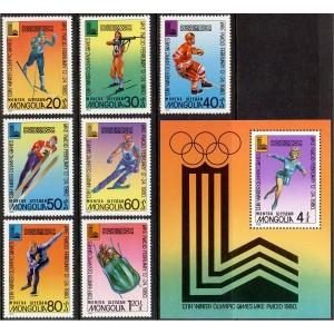 Mongoolia - Lake Placid 1980 olümpia, **