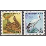 Korea - toonekurg ja orav, puhas (MNH)