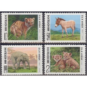 Põhja-Korea - loomad 1998, puhas (MNH)