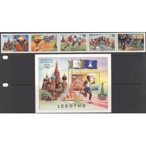 Lesotho - Moskva 1980 olümpia, **