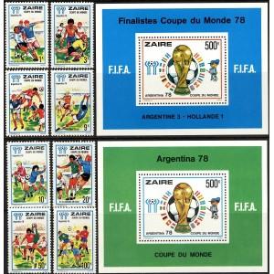 Zaire - Argentina ´78 jalgpalli MM, MNH