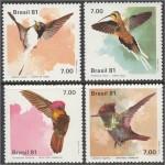 Brasiilia - linnud 1981, puhas (MNH)