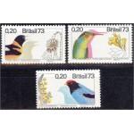 Brasiilia - linnud 1973, puhas (MNH)