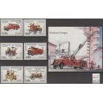 Kampuchea - tuletõrjautod 1997, MNH