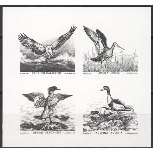 Eesti - 1992 Mare Balticum - linnud, musttrükk