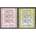 Eesti - 2001 Eesti Vapp 1.00 ja 5.00, **