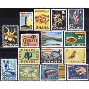 Ghana - lilled, linnud, kala, maastik 1959, **