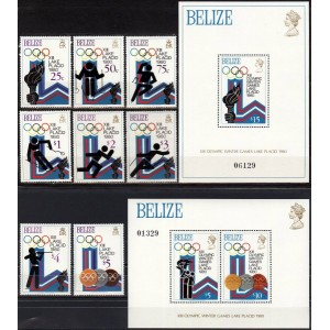 Belize - Lake Placid 1980 olümpia, **