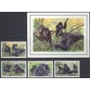 Rwanda - gorillad WWF 1985, **