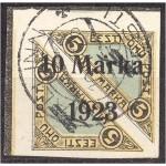 Eesti 1923, Õhupost ületrükk 10m, templiga