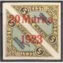 Eesti 1923, Õhupost ületrükk 20m, (telliskivip.) **